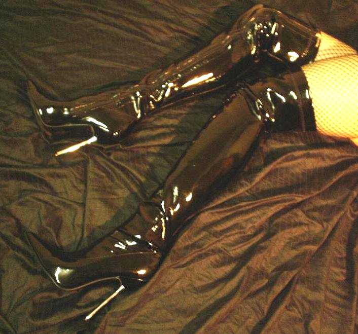 Thigh high boots fetish